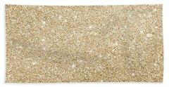 Gold Glitter Beach Towel