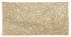 Beach Towel featuring the photograph Gold Glitter by Top Wallpapers