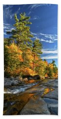 Golden Autumn Light Nh Beach Towel