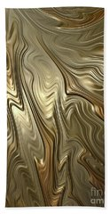 Golden Flow Beach Towel