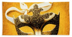 Golden Gala Beach Towel