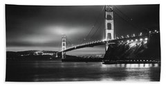 Golden Gate Bridge B/w Beach Sheet