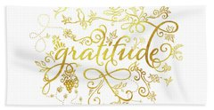 Golden Gratitude Beach Towel