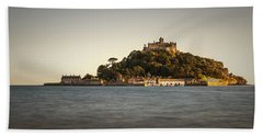 Golden Hour At St Michael's Mount Beach Towel