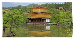 Golden Pavilion - Kyoto, Japan Beach Sheet