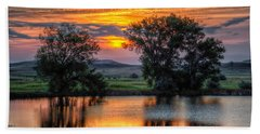 Golden Pond At 36x60 Beach Towel