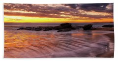 Golden Reflections Beach Towel
