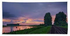 Golden Sunset Near Westlock Beach Sheet
