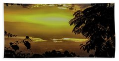 Golden Sunset On Strawberry Hill Beach Towel