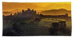 Golden Tuscany Beach Towel