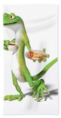 Good Morning Gecko Beach Towel