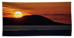 Beach Towel featuring the photograph Goodnight Superior by Doug Gibbons