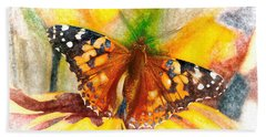 Gorgeous Painted Lady Butterfly Beach Towel