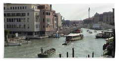 Grand Canal Venice Italy Panoramic View Beach Sheet