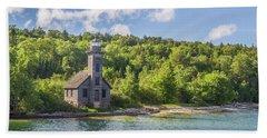 Grand Island East Channel Lighthouse Beach Sheet