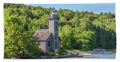 Grand Island East Channel Lighthouse, No. 2 Beach Towel