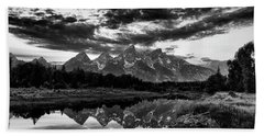 Beach Towel featuring the photograph Grand Tetons, Wyoming by John Rodrigues