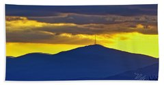 Grandmother Mountain Sunset Beach Towel