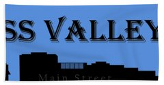 Grass Valley Skyline Beach Towel