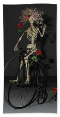 Grateful Penny Farthing Skeleton Beach Towel