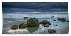 Beach Towel featuring the photograph Gray Morning On Wells Beach by Rick Berk