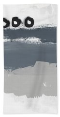Grayscale 1- Abstract Art By Linda Woods Beach Towel