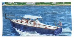 Beach Towel featuring the painting Great Ackpectations Nantucket by Dominic White