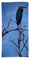 Great Blue Heron 3 Beach Sheet