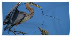 Great Blue Heron 4034 Beach Sheet
