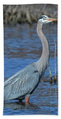 Great Blue Heron Dmsb0150 Beach Sheet
