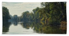 Beach Towel featuring the photograph Great Morava River by Milan Ljubisavljevic