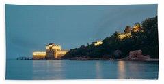 Great Wall At Night Beach Sheet