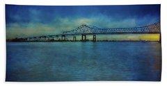 Greater New Orleans Bridge Beach Towel
