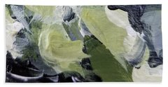Beach Towel featuring the painting Green #1 by Maria Langgle