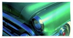 Green 1955 Buick Special Beach Towel