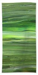 Green Abstract Meditative Brush Strokes IIi Beach Towel