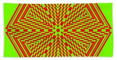 Green And Red Fusion  Beach Towel