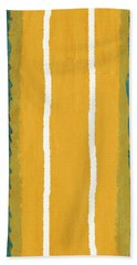 Green And Yellow Abstract Theme II Beach Towel