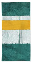 Green And Yellow Abstract Theme Iv Beach Towel