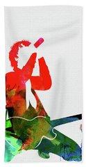 Green Day Watercolor Beach Towel