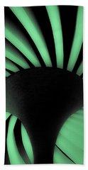 Green Fan Ceiling Beach Sheet