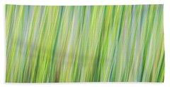 Green Grasses Beach Towel