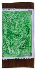 Green Jungle Beach Towel