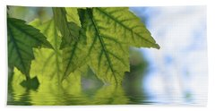 Green Leaf Reflections Beach Sheet