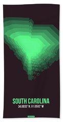 Green Map Of South Carolina Beach Towel