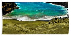 Green Sand Beach Beach Towel