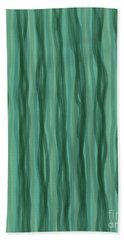 Green Stripes Beach Towel