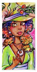 Green Witch Beach Towel