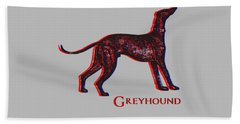 Greyhound Dog Beach Towel