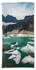Beach Towel featuring the photograph Grinnell Glacial Lake At Glacier National Park by Lon Dittrick